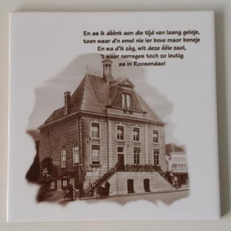 Tegel oude raadhuis Roosendaal