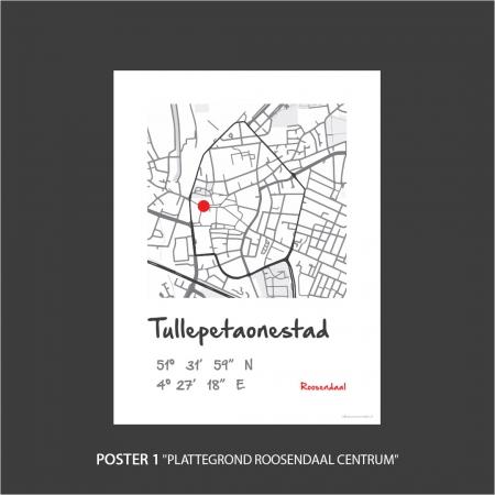 Plattegrond Roosendaal centrum