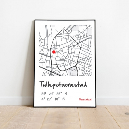 Poster plattegrond Roosendaal