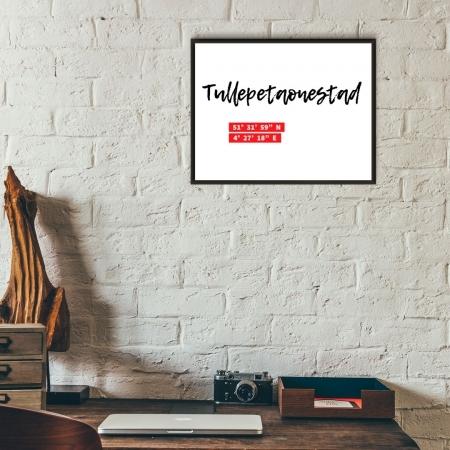 Unieke poster coordinaten Roosendaal