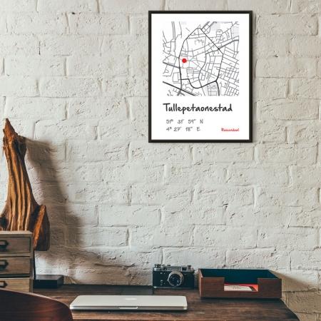 Unieke poster plattegrond Roosendaal