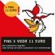 Tullepetaon pins 3 voor 11 euro