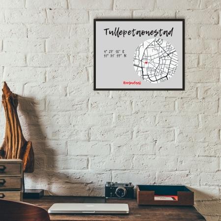 Unieke plattegrond poster Roosendaal