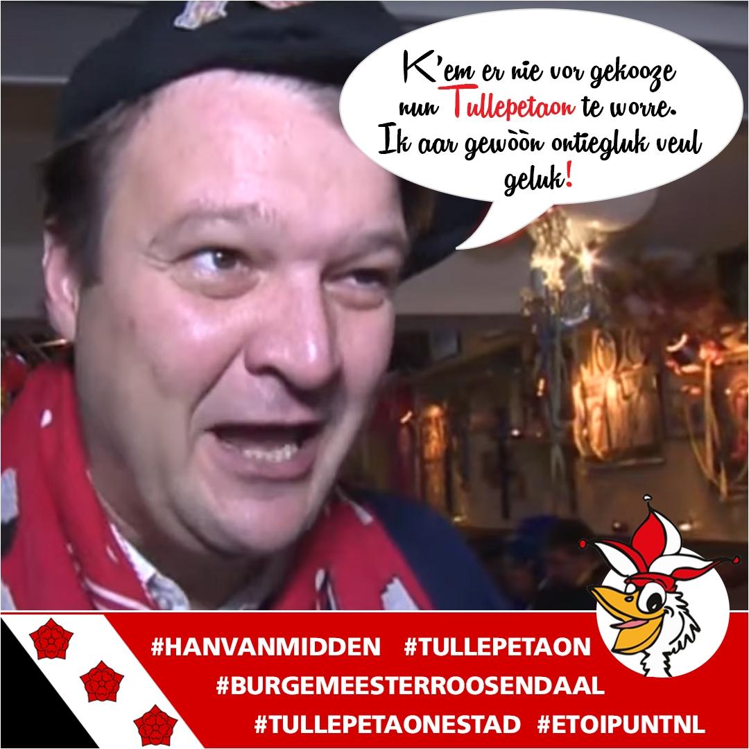 Roosendaal. Burgemeester Han van Midden
